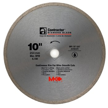 "MK Diamond 167031 Tile Saw Blade, 10"" Diamond"