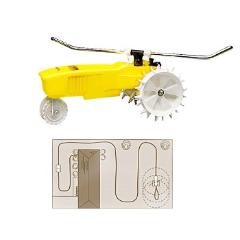 LR Nelson 1865-16 Tractor Sprinkler ~ Rain Train,  Yellow