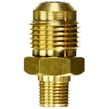 "Brass Orifice ~ 1/8"" MPT x 3/8"" Male Flare"
