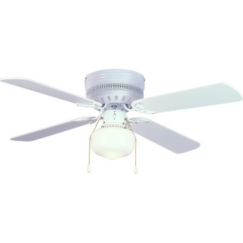 Trinidad Design Series Ceiling Fan, Gloss White ~ 4 Blades