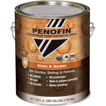Transparent Penetrating Oil Finish Stain & Sealer, Dark Walnut Matte ~ Gallon