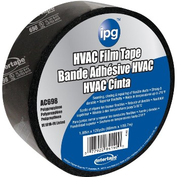 1.88x360ft. Blk Hvac Tape