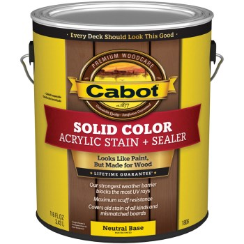Solid Color Acrylic Deck Stain, Neutral Base ~ Gallon