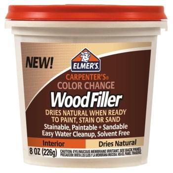 Elmers   E913 Carpenters Color Change Wood Filler, Natural ~ 8 oz Can