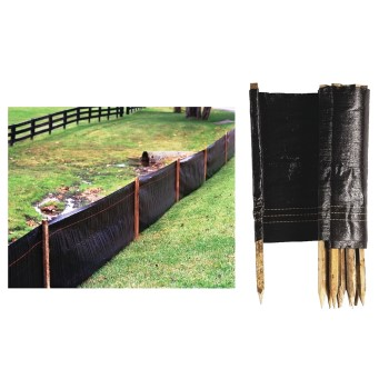 Landware  Tenax Black Silt Fence ~ 2 Ft x 100 Ft.