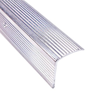 "Stair Edging, Fluted w/Silver Finish ~ 1 1/8"" x 36"""