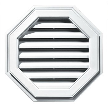 Builders Edge 120012222001 Gable Vent, Octagon White ~ 22""