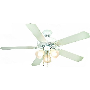 Hardware House  415919 Ceiling Fan, Panama Style IV  Gloss White ~ 52""