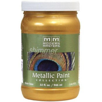 Modern Masters ME194-32 Metallic Paint, Iridescent Gold 32 Oz
