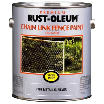 Rust-Oleum 7787402 Chain Link Fence Paint, Metallic Silver ~ Gallon
