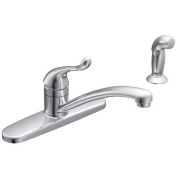 Low Arc Kitchen Faucet with Spray