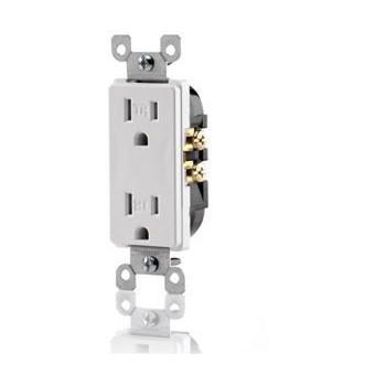 Leviton S02-T5325-00W Tamper-Resistant Receptacle, 15 Amp 125 Volt ~ White
