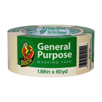 "Duck Brand General  Masking Tape ~ 1.88"" x 60 Yds"