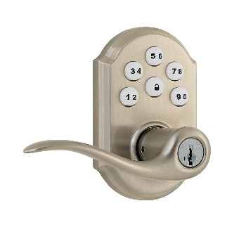 SmartCode Touchpad Electronic Lever ~ Satin Nickel Finish