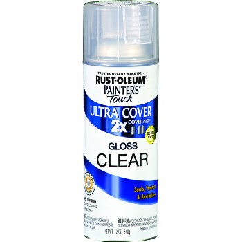 Painter's Touch Ultra 2X Cover Spray, Clear Gloss ~ 12 oz