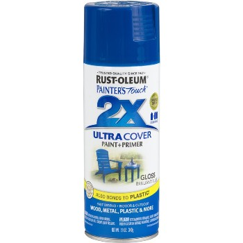 Rust-Oleum 249120 Painters Touch 2X Ultra, Brilliant Blue Gloss ~ 12 oz Spray