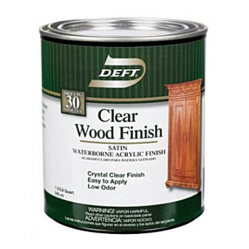 Waterborne Clear Wood Finish ~ Satin/Quart