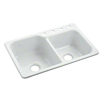 Double Basin Sink - White