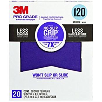 "3M 26120CP-P-G Pro Grade Advanced Sandpaper, 120 Grit ~ 9"" x 11"""