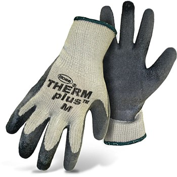 Therm Plus Acryic Fleece Lined Knit Gloves,  Latex Palm ~ Medium