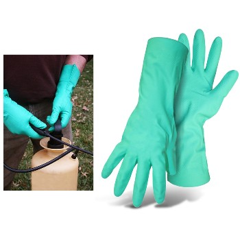 Home N'  Yard Nitrile Glove, 18 Gauge ~ Large
