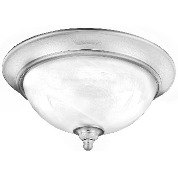 Ceiling Fixture, 2 Light Dover Desgin ~ Satin Nickel