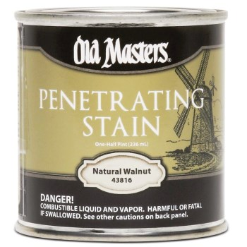 Penetrating Stain,  Natural Walnut ~ 1/2 Pint