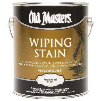 Old Masters 12301 Wiping Wood Stain,  Fruitwood  ~ Gallon