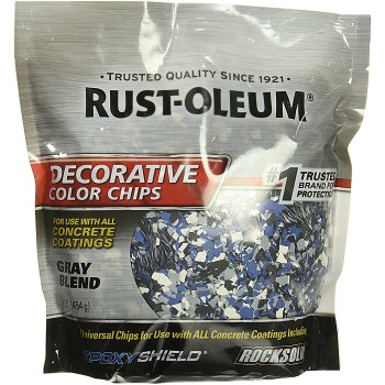 Epoxy Shield Decorative Color Chips, Gray Blend ~ Covers 250 sq ft