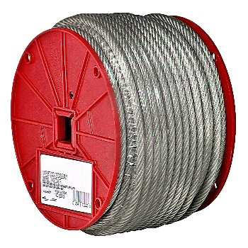 "Vinyl Coated Cable, 7 x 7  ~ 1/8"" x 250 Ft"
