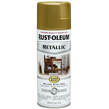 Rust-Oleum 7275 Metallic Spray Paint - Burnished Brass