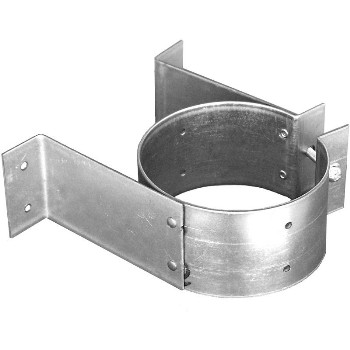 "Pellet Vent Pipe or Tee Support Bracket ~ 3"" Pipe Size"