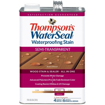 Semi-Transparent Waterproofing Stain, Acorn Brown~Gallon