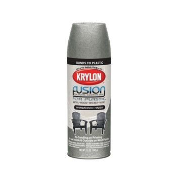 Fusion Plastic Paint,  Silver Hammered ~ 12oz