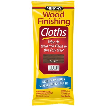 Walnut Stain Finishing Cloths ~ 8 Cloths per Pack