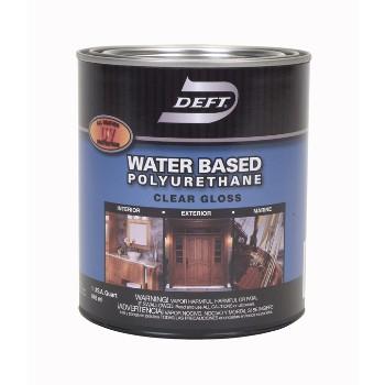 Buy The Deft Dft257 04 Polyurethane Finish Waterbase Gloss Qt Hardware World