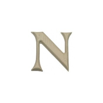 House Letter N,   Simulated Wood-Grain Letter ~ 7""