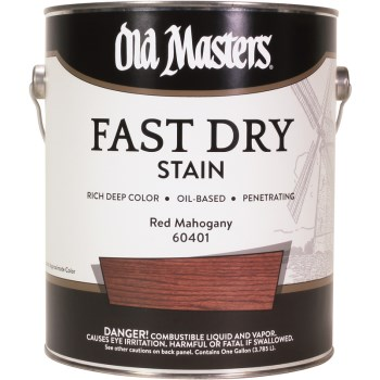 Fast Dry Wood Stain ~ Red Mahogany, 1 Gallon