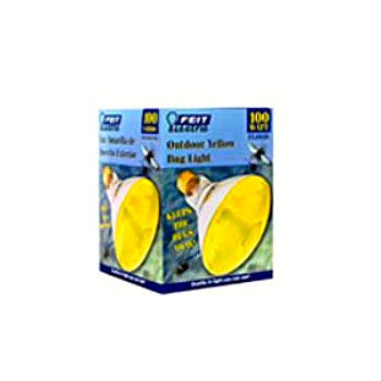 Feit Elec. 100PAR/BUG/1 Colored Floodlight, Yellow 120 Volt 100 Watt
