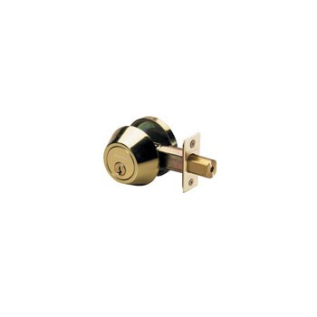 Deadbolt Single Cylinder Polished Brass