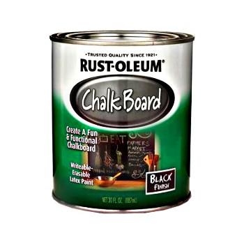Rust-Oleum 206540 Chalkboard Paint Brush on Black  ~ Quart