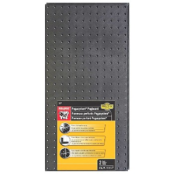 "Pegboard,  Black Plastic ~ 2 Panels/12""x 24"" Each"