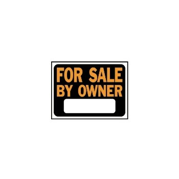 "For Sale Owner Sign, Plastic 9"" x 12"""