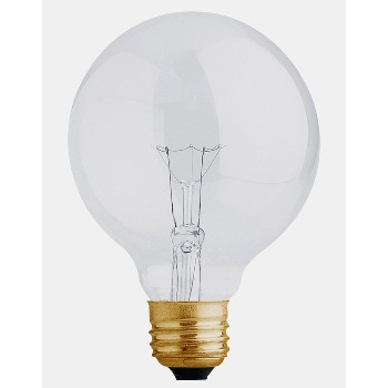 Light Bulb, Globe White 120 Volt 40 Watt