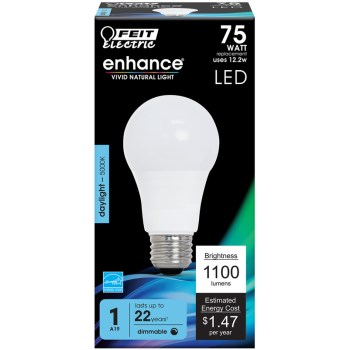 A19 Shape Dimmable LED Bulb ~ 1100 Lumens