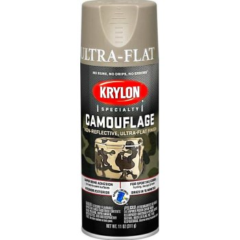 Ultra Flat Camouflage Paint, Camo ~ 11 oz.