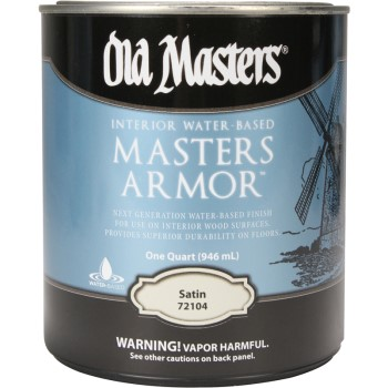 Mastor Armor Interior Polyurethane Finish,   Satin  ~ Quart