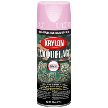 Ultra-Flat Camouflage Paint, Camo Pink ~ 11 oz Spray Cans