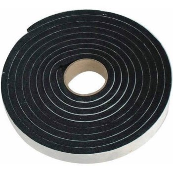 Black Sponge Rubber, 1 4 x 3 / 4 inches x 1 0 feet