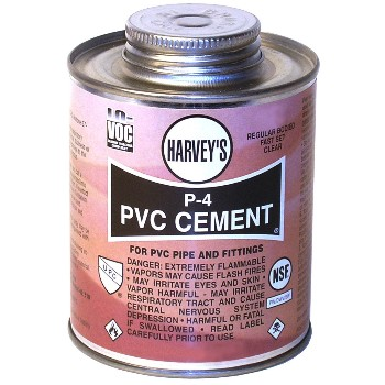 PVC Cement, P-4 Regular Body Clear ~ 4 oz